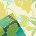 Желто зелено синие листья 24