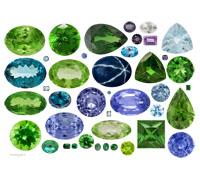 Драгоценные камни, бусины и стразы.