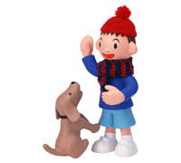 Мальчик собака