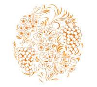 "Схема вышивки  ""Хохлома.Роспись "": таблица цветов."